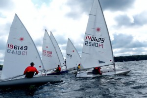 sailboats at starting line